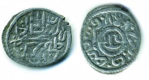 Монета Хаджи Гирея 858 г