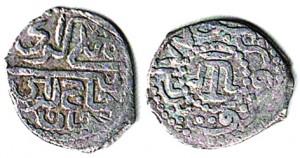Монета Менгли Гирея I 883 года, уже без титула Султан