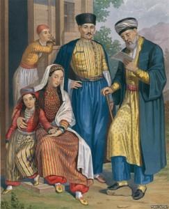 Семья крымских татар и мулла
